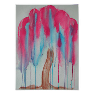 Pink Willow Tree Photo Print