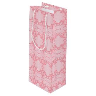 pink wine gift bag