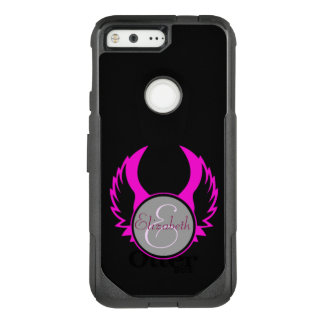 Pink Winged Monogram OtterBox Commuter Google Pixel Case