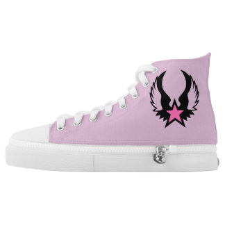 Pink Winged Star High Tops