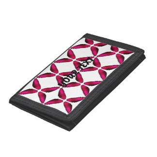 Pink wings of Butterfly Trifold Wallet