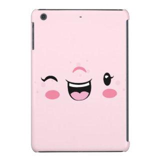 Pink Winking Kawaii Face iPad Mini Case