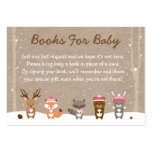 Pink Winter Woodland Animal Book Request Cards Pack Of Chubby Business Cards