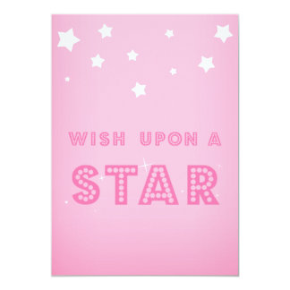 Pink Wish upon a Star Custom Event Invitation