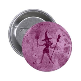 Pink Witch 6 Cm Round Badge