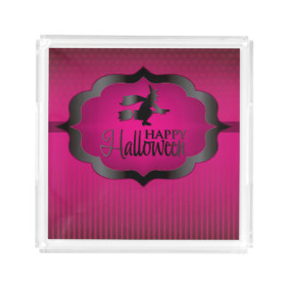 Pink witch Halloween shape