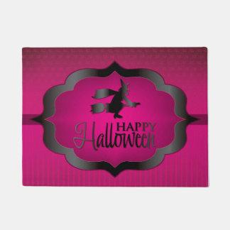 Pink witch Halloween shape Doormat
