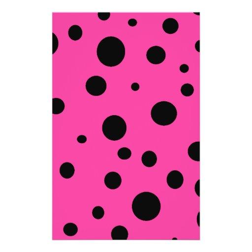 Pink with Black Polka Dots Fashion Fun Flyer Design