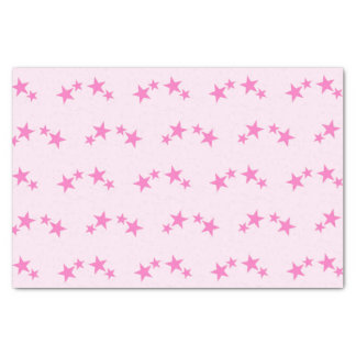 Pink with hot pink stars tissue paper