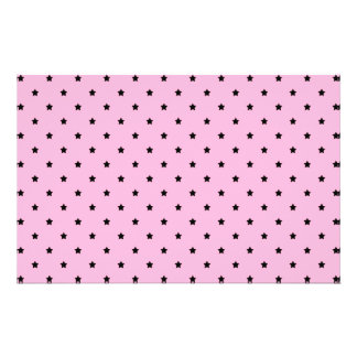 Pink with little black stars. 14 cm x 21.5 cm flyer