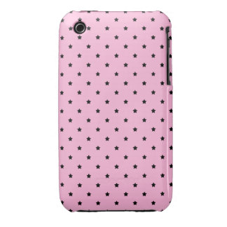 Pink with little black stars. Case-Mate iPhone 3 cases