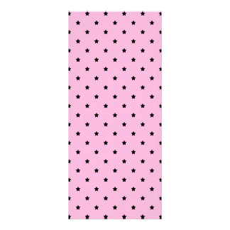 Pink with little black stars. rack cards