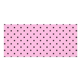 Pink with little black stars. customized rack card