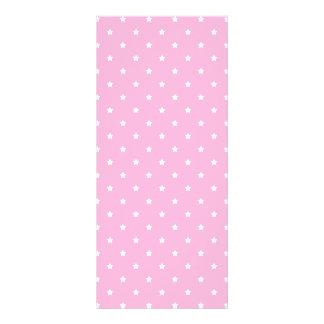 Pink with little white stars. Custom Full Color Rack Card