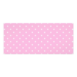 Pink with little white stars rack card template