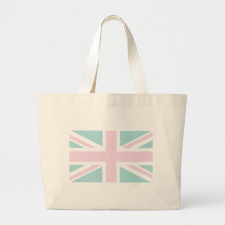 Pink with pale green Union Jack British UK Flag Bags