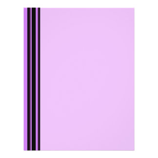 pink  with purple black stripes personalized flyer