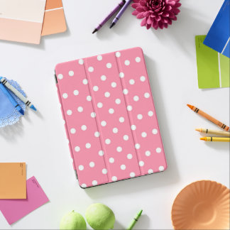 Pink with white dots iPad pro cover