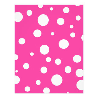 Pink with White Polka Dots Girly Fun Personalized Flyer