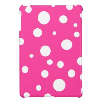 Pink with White Polka Dots Girly Fun iPad Mini Covers