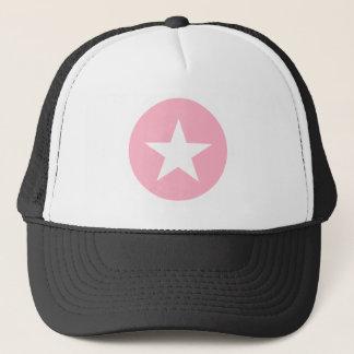 Pink With White Star Trucker Hat