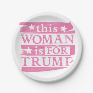 Pink Woman for TRUMP themed Paper Plates