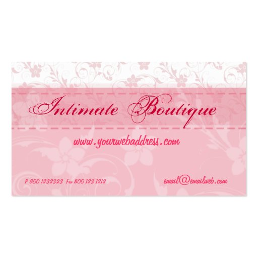 Pink Women Clothing Business Card Templates