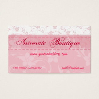 Pink Women Clothing Business Card