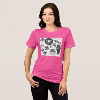 Pink women T-Shirt with manga cookies