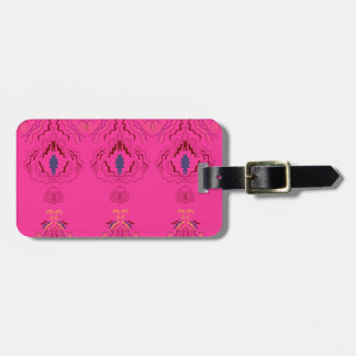 Pink wonderful Ornaments Folk design Luggage Tag