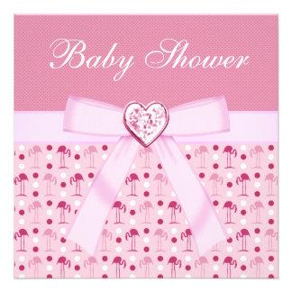Pink Wonderland Flamingos Baby Shower Invites