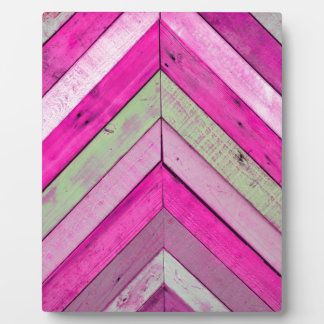 Pink wood plaques