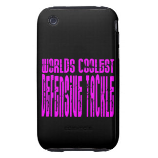 Pink Worlds Coolest Defensive Tackle Tough iPhone 3 Covers
