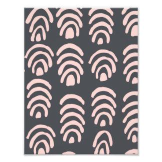 Pink X Grey Rounded Brackets Photo