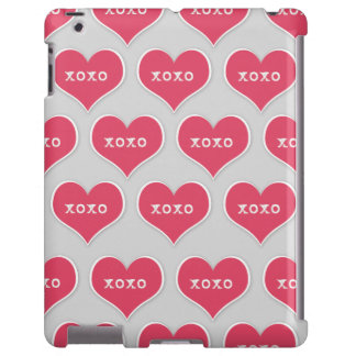 Pink XOXO Hearts with Changeable Color Background