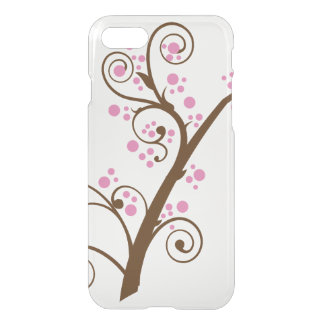 Pink Yarrow Abstract clearly for Mother's Day iPhone 7 Case