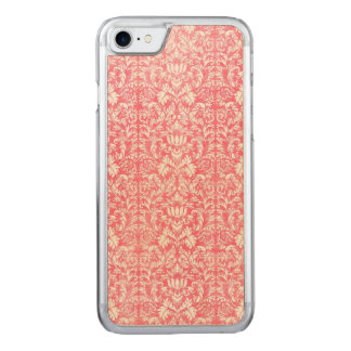 Pink Yarrow Floral Damask Carved iPhone 7 Case