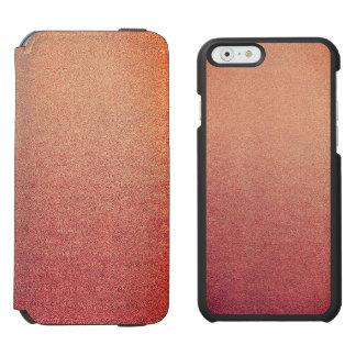 Pink Yarrow Ombre Glitter Sand Look Incipio Watson™ iPhone 6 Wallet Case