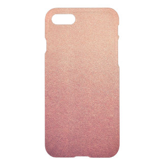 Pink Yarrow Ombre Glitter Sand Look iPhone 7 Case