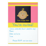 Pink Yellow Adoption Party Invite
