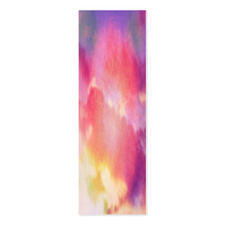 Pink, yellow and blue abstract clouds business cards