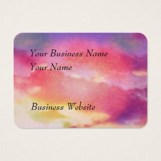 Pink, yellow and blue abstract clouds business card