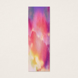 Pink, yellow and blue abstract clouds mini business card