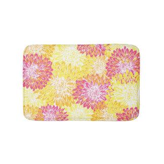 Pink, Yellow and Orange Mums Bath Mat
