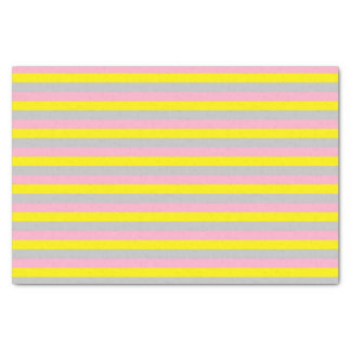 Pink, Yellow, and Silver Stripes Tissue Paper