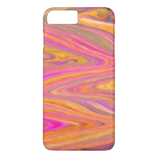 Pink, Yellow and Violet Zigzag Stripe Abstract iPhone 8 Plus/7 Plus Case