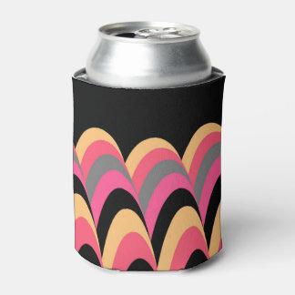 Pink Yellow Black Stylish Pattern Can Cooler
