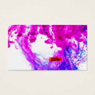 Pink Yellow Blue Ink Drop Fine Art Photography Business Card