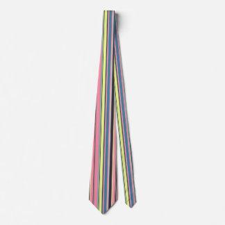 Pink Yellow Blue Purple Vertical Stripe Pattern Tie