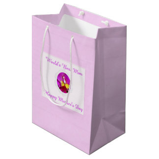 Pink Yellow Cattleya Orchid Mother's Day Gift Bag